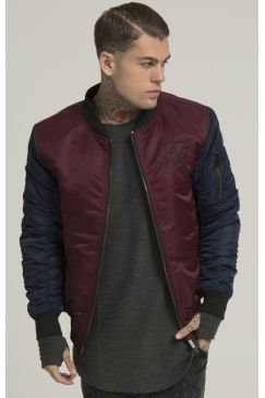 SikSilk - Peak Bomber - Burgundy | You can't beat a bomber and this Sik Silk style will make all the difference & add a premium edge to any outfit! Shop Now @ Urban Celebrity!