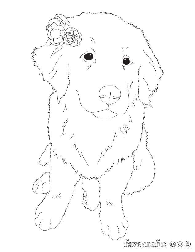 Flower Puppy Coloring Page Puppy Coloring Pages Coloring Pages