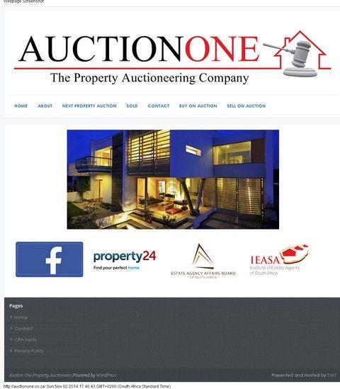 AuctionOne revamped site - 2014