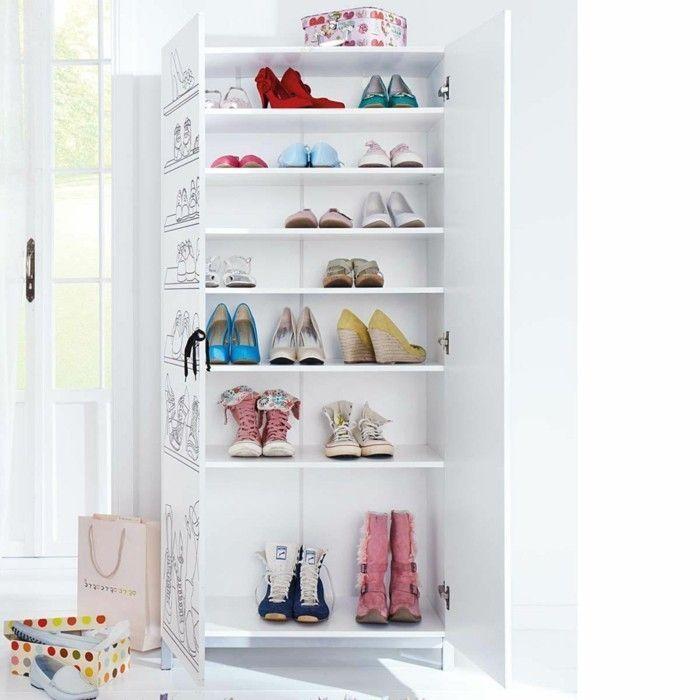 Schuhschrank selber bauen – eine kreative Schuhaufbewahrung Idee – Archzine.net,  #Archzinene… – Schuh Schrank