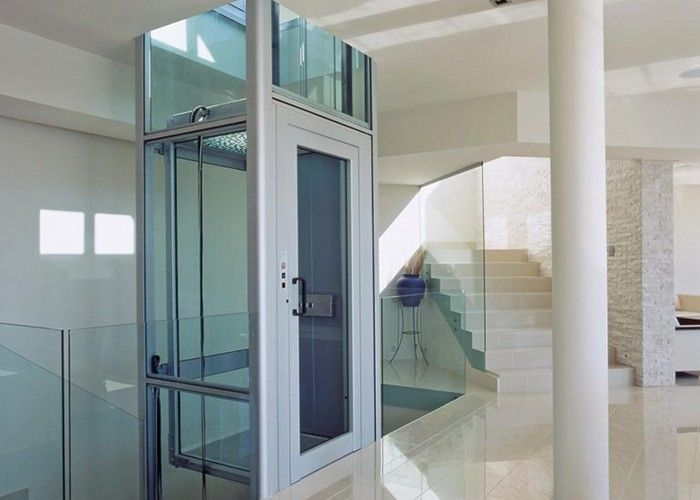 Glazed home lift for sds clients kimberley and john for Luxury home elevators
