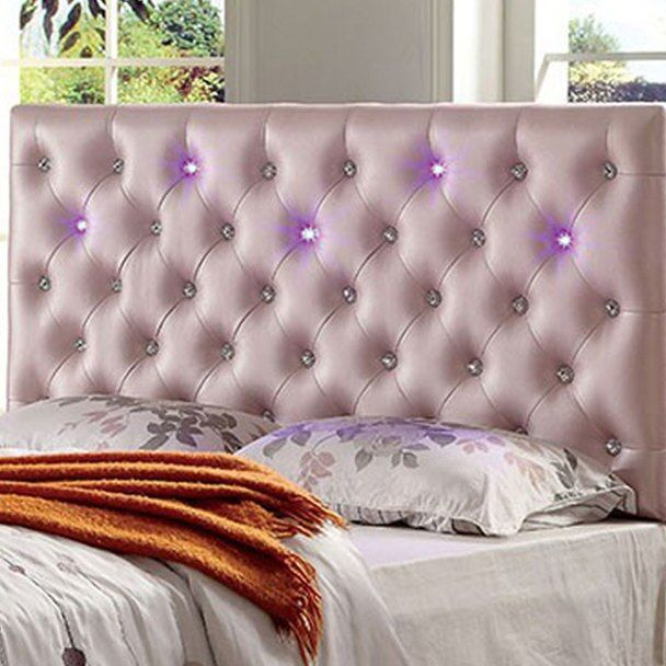 Contemporary Style Pink Headboard In 2020 Headboard Styles Pink Headboard King Upholstered Bed