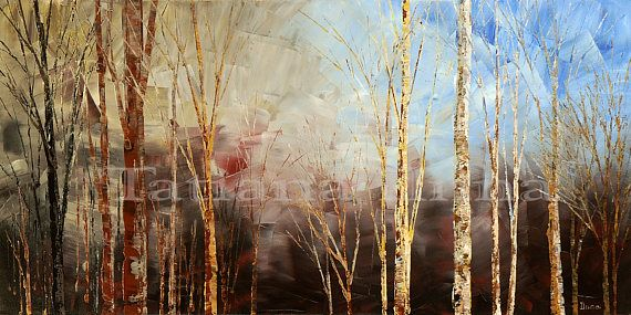 War and Peace by Tatiana iliina, Hand textured giclee print on CANVAS of original forest