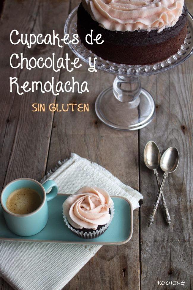 KOOKING: Cupcakes (y tarta) de chocolate y remolacha sin gluten