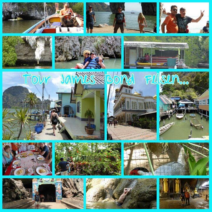 """Tour mit Tiger    Phang Nga Bucht    mit """"Khao Tapu"""" James Bond Felsen, Phing Kan Island, Hongs,   """"Koh Panyi"""" Floating Village   ..."""