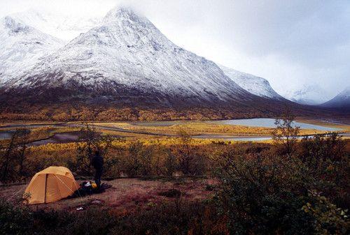 Camping at Sarek National Park in Sweden by BJØRN NORMANN