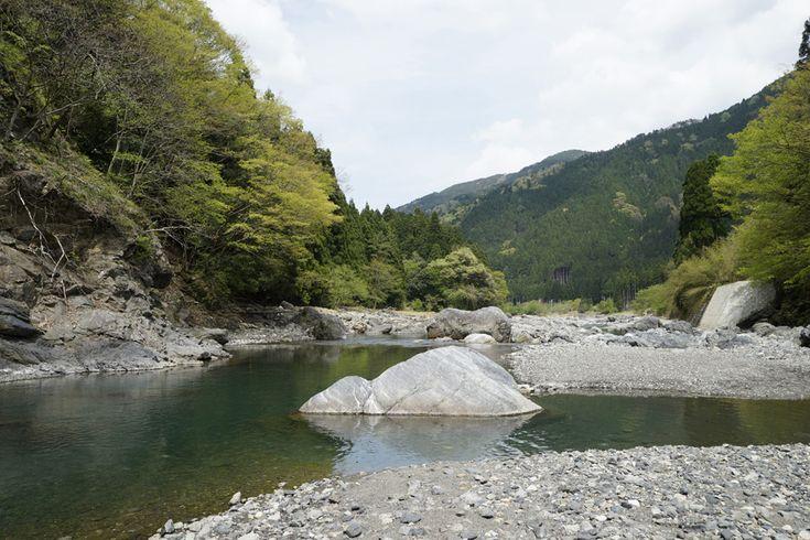 葛川細川にある、静かな渕。  釣りにおいては、このようなフラットな渕でよい思いをした事がほとんどない。 第一、フライを浮かべても魚からしっかり観察されるので、騙せる気がしない。 特に安曇川のようなハイプレッシャーな川では、アマゴやイワナは充分に学習しいる。 稀に覗きにくる奴がいるが、フライ直下で一瞬静止した後、上目遣いで去っていくのが関の山である。  ただしライズ(水面への捕食行動)があれば、話は別である。  何を食べているのだろうか・・・ 捕食対象のサイズは・・・ ライズのスパンは・・・ フライは何を選ぼうか・・・ どのようにアプローチしようか・・・ 等々、  たとえ釣れなくても結構楽しめる。