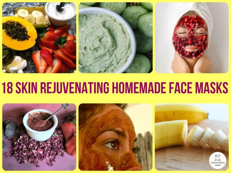 18 Skin Rejuvenating Homemade Face Masks