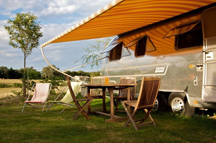 Belrepayre #Airstream #Retro Trailer Park, located in #Europe, France