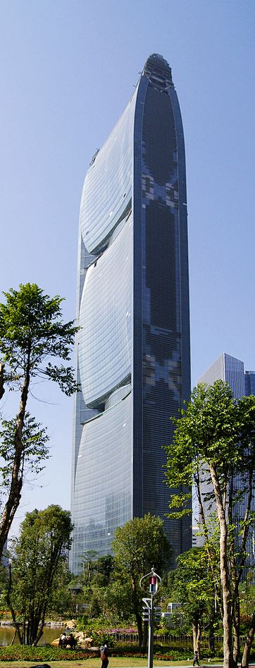 Pearl River Tower, Guangzhou, China by Skidmore, Owings, and Merrill (SOM) with Adrian D. Smith and Gordon Gill Architects :: 71 floors, height 310m