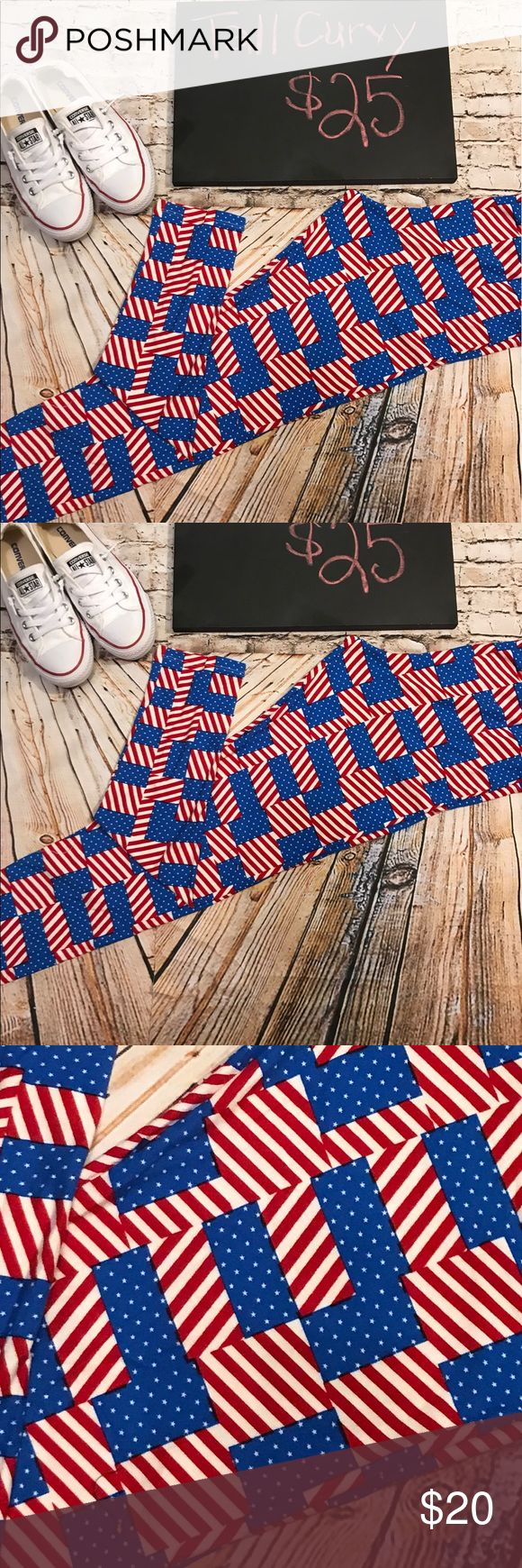 LuLaRoe Americana Tall Curvy Leggings NWT LuLaRoe Americana Tall Curvy Leggings. NWT American Flag price is firm LuLaRoe Pants Leggings