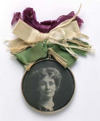 Portrait Badge of Emmeline Pankhurst - c1909 - Museum of London - Suffragette - Wikipedia, the free encyclopedia