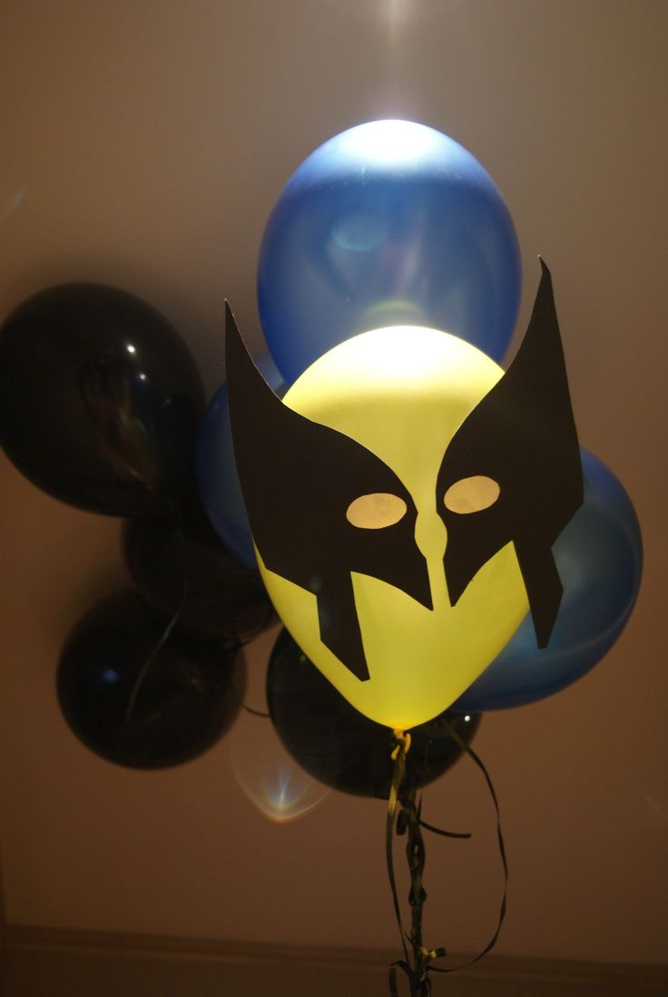 Wolverine balloons @ the Superhero party | X-Men Party | Pinterest