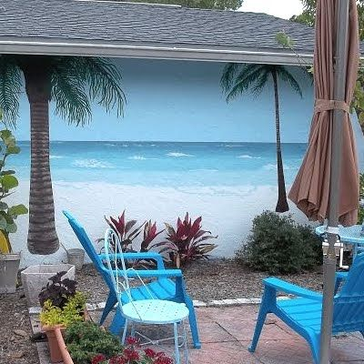12 best outdoor walls fences images on pinterest for Backyard beach ideas