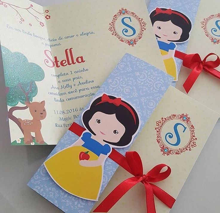 Invitación blanca nieve - Snow White invitation