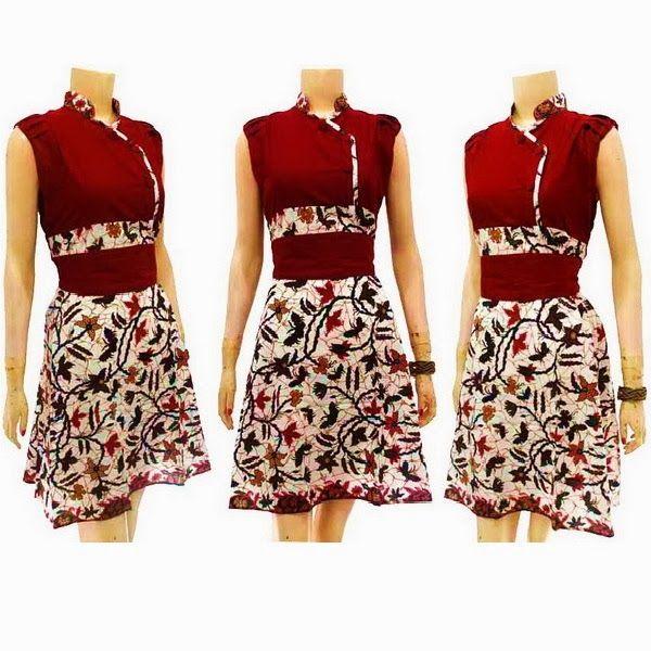 Dress Batik Modern Solo KODE : DB 3636