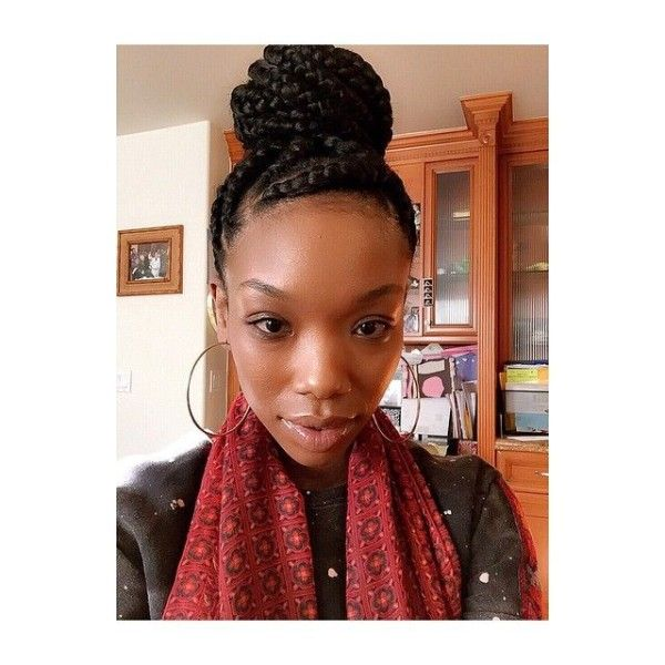 Loving This Braided Bun on Brandy - http://community.blackhairinformation.com/hairstyle-gallery/braids-twists/loving-this-braided-bun-on-brandy/