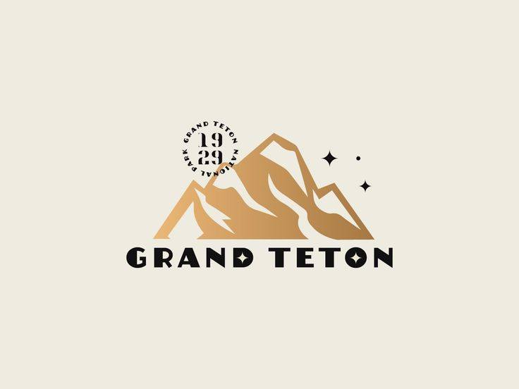 - 6061eafcec26f27f16c3a1effab5e1c9 - Grand Teton by Katie Connolly #dribbble #design #grandteton #nationalpark #logo #logodesign #branding #graphicdesign