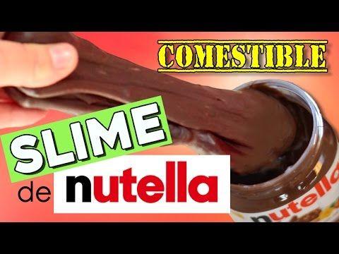 SLIME de NUTELLA COMESTIBLE! * 2 recetas con y sin nutella - YouTube
