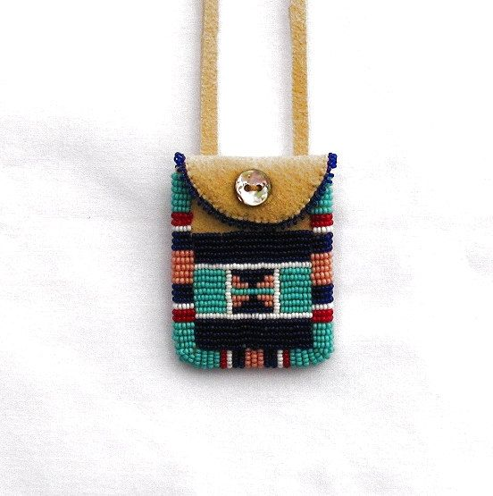 Mini Beaded Neck Pouch