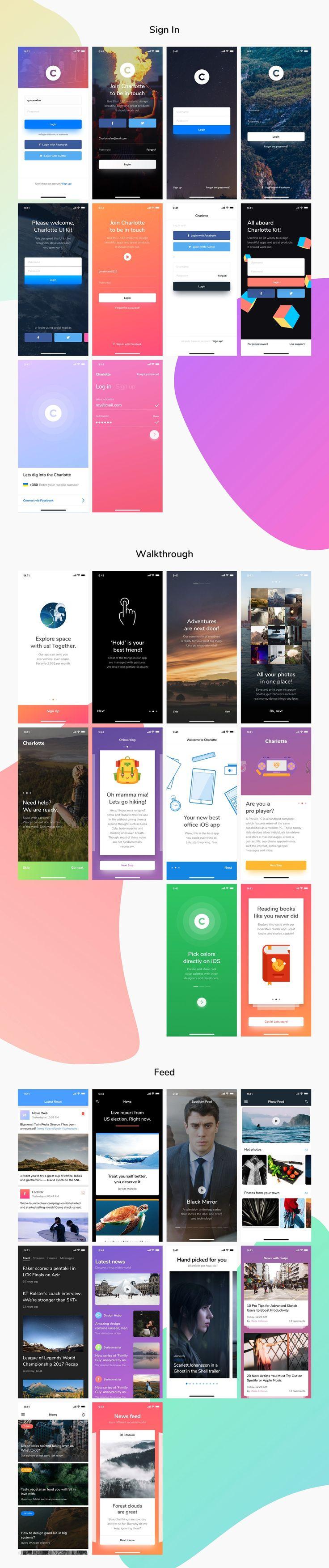Charlotte iOS UI Kit - Web Elements - 7