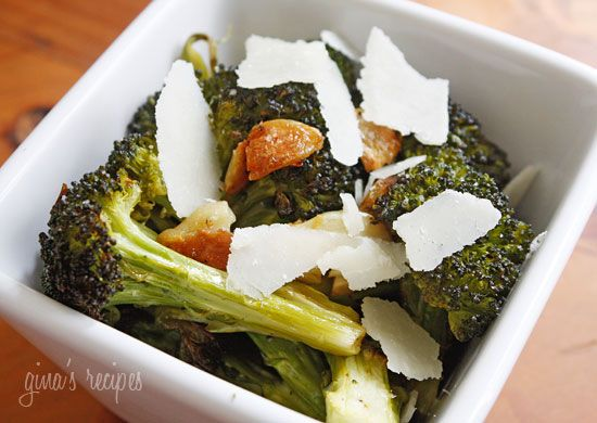 Roasted Broccoli with Smashed Garlic | Skinnytaste