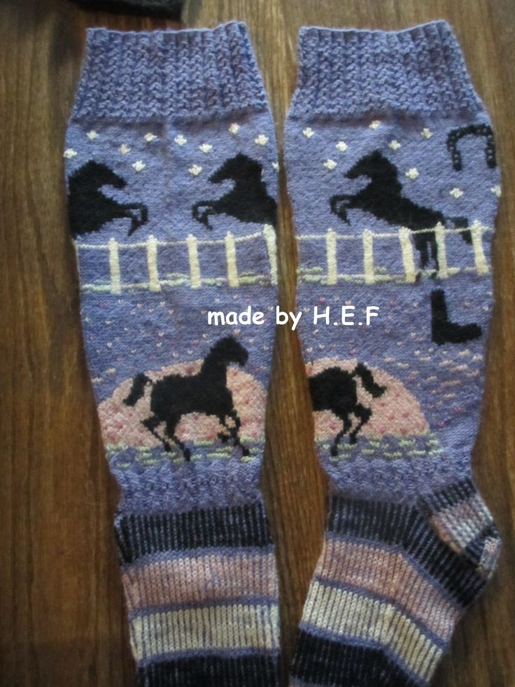 Knitting Socks Horses Hjertegarn Sock4