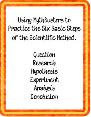 Using Mythbusters to teach the scientific method