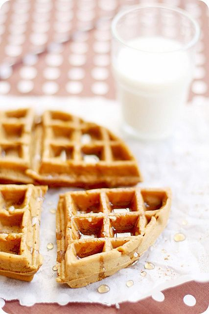 gingerbread waffles! I was just thinking, TODAY, that I needed a recipe for these- and then Amber pins one. Add sweet orange butter and I'm in!