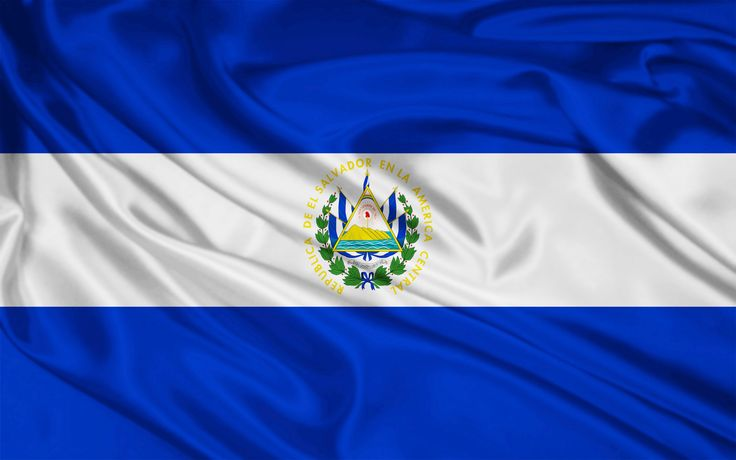 Flag of El Salvador White - peace and honesty Blue - the sea and the sky  - vigilance, truth and loyalty, perseverance & justice