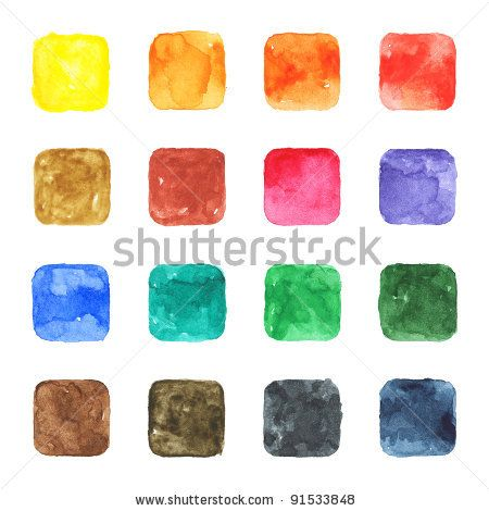 All my aquarelle drawings http://www.shutterstock.com/sets/16601-watercolor-painting.html?rid=498844 — 16 blank watercolor colored blank rounded square shapes web buttons on white background — Keywords: aqua badge banner blue brown canvas cerulean cobalt cyan empty gray green grunge icon indigo ink internet magenta orange paint paintbrush painting paper picture pink purple red scan template texture violet watercolour yellow — #Royalty #free #stock #photo #illustration for $0.28 per download