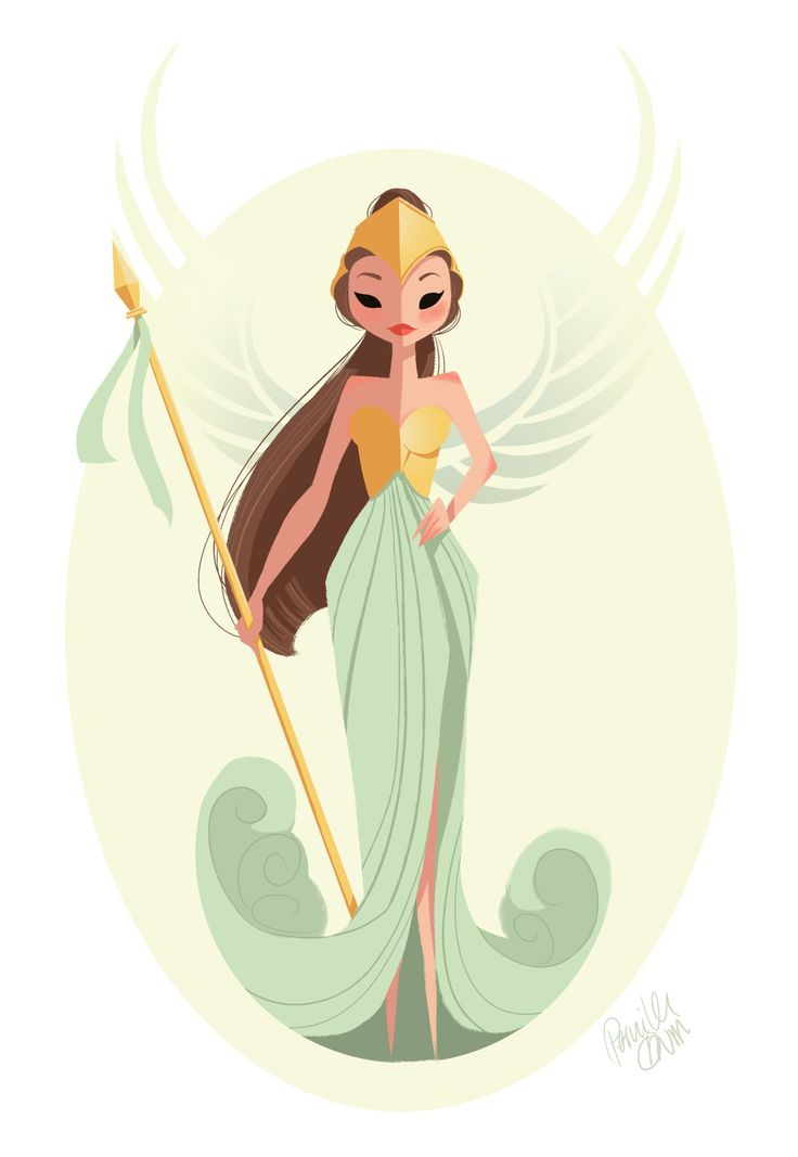 Athena for Sketch Dailies by Pernilleoe