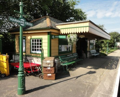 Harman's Cross Station on Swanage Railway, Dorset