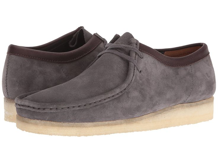 CLARKS CLARKS - WALLABEE (CHARCOAL SUEDE) MEN'S LACE UP CASUAL SHOES. #clarks #shoes #
