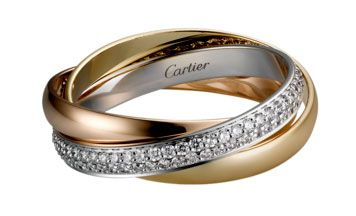 Bridal bling: Russian wedding rings - Cartier | CHWV