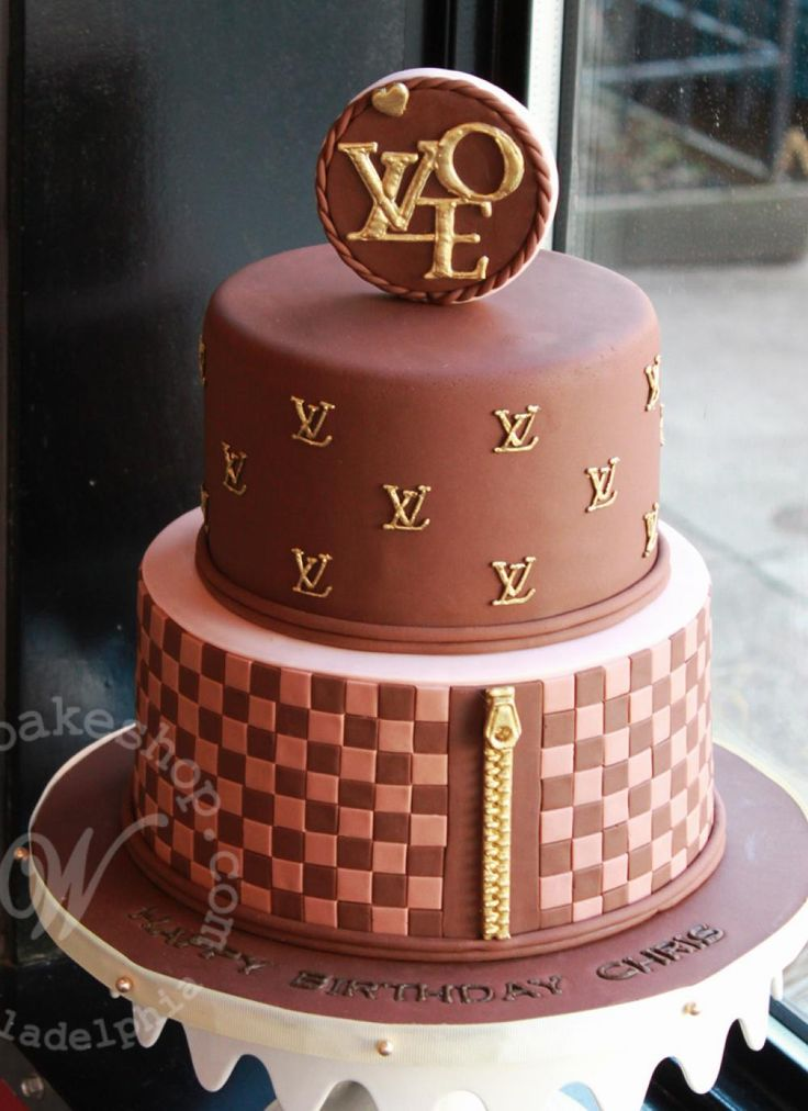 Tiered Louis Vuitton Logo Cake By Whipped Bakeshop In