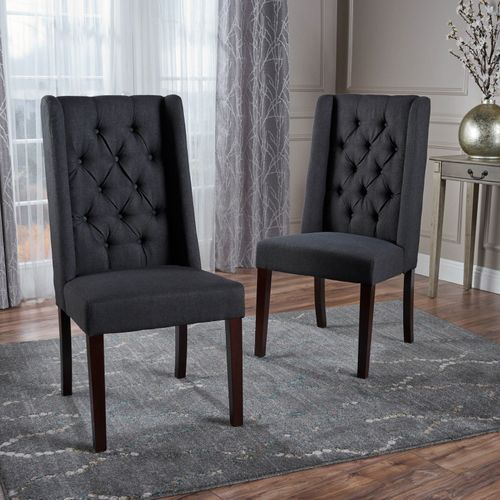 Blythe Charcoal Dining Chairs Set Of 2 In 2019 Dining