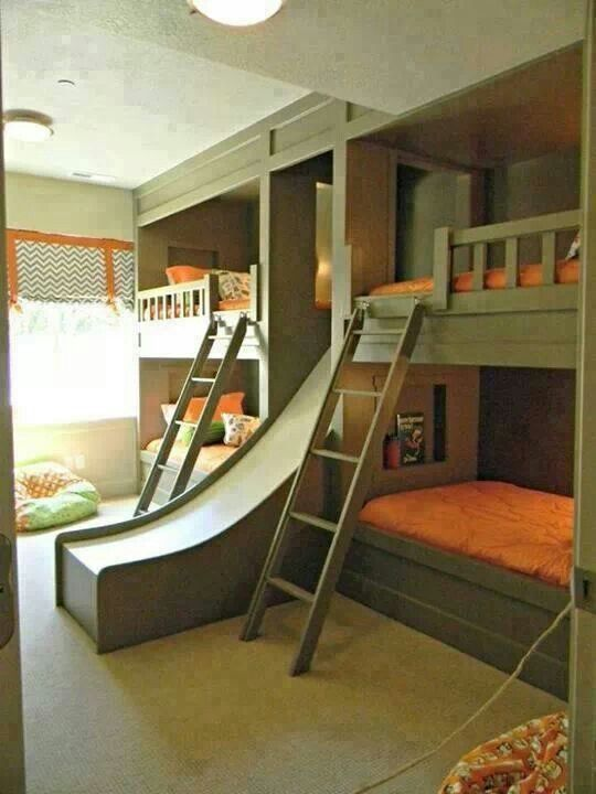 Awesome bunk bed idea! by sweet.dreams