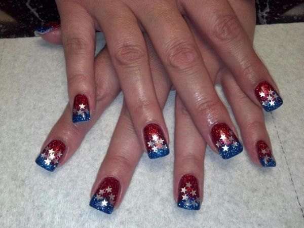 4th of july pedicure pictures