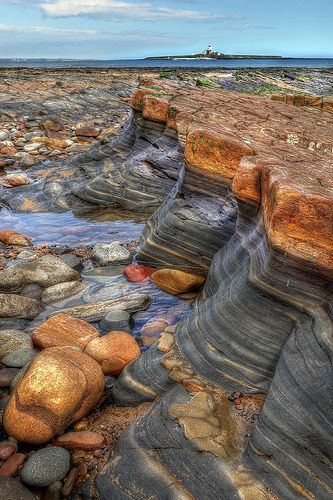 A Pattern of Nature, Northumberland coast near Amble - the beauty of #Northumberland
