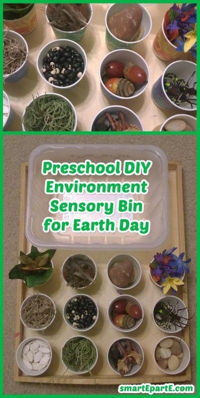 Preschool DIY Environment Earth Day Sensory Bin + 8 Tot Trays!