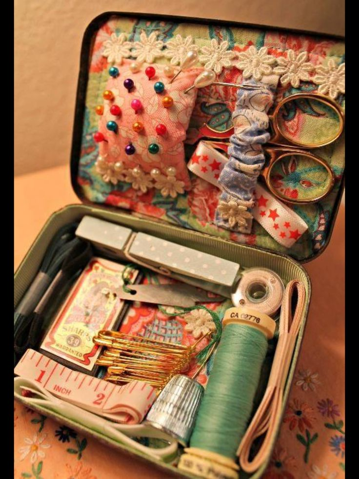 Emergency sewing tin!