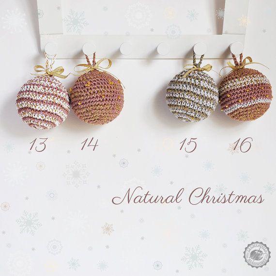 Crochet #Christmas #decor, #baubles, #natural christmas  <3
