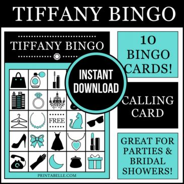 Breakfast at Tiffany's Bingo Game – Party Ideas