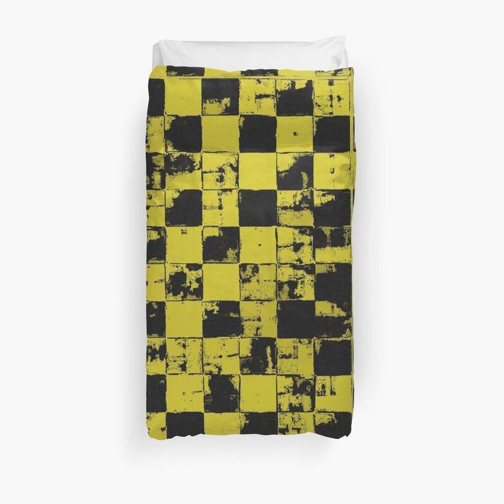 Grunge Yellow and Black Bricks Pattern by cool-shirts