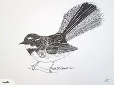 nz native bird designs - Google Search