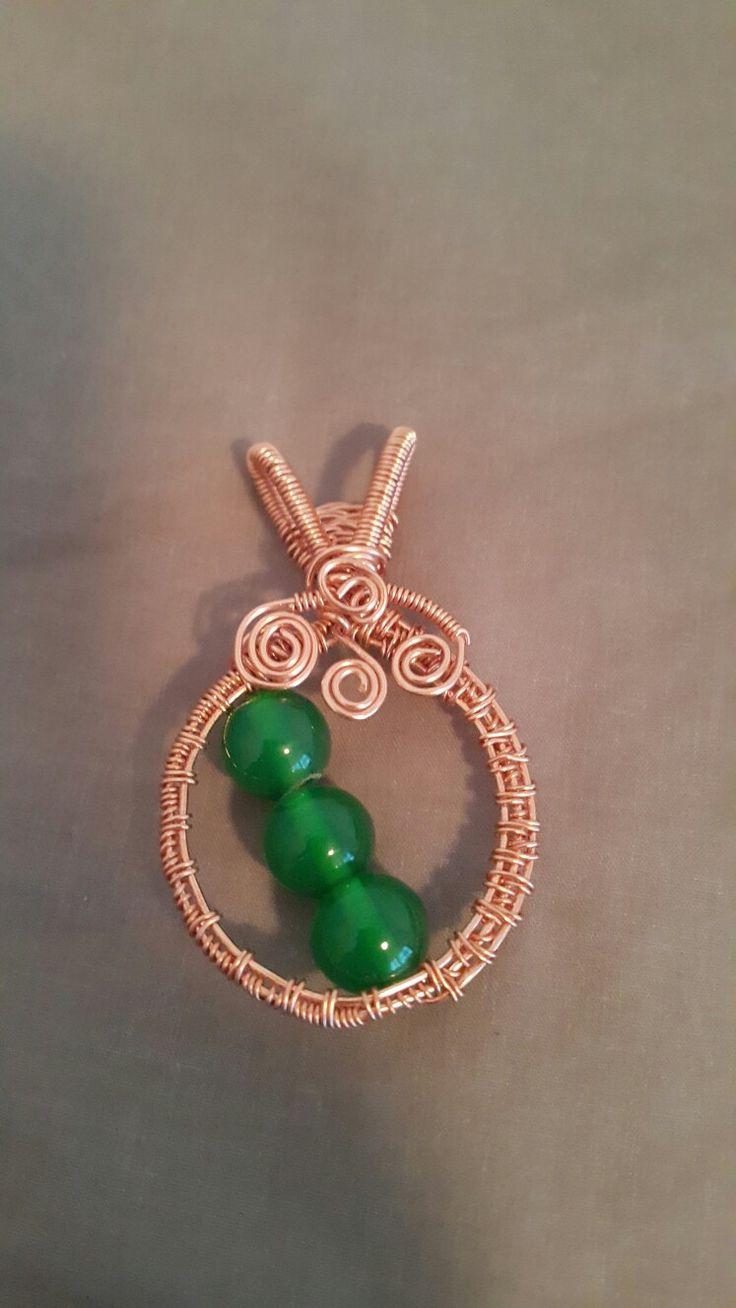 Copper Pendant Wire Work
