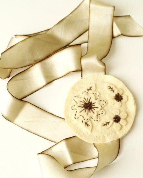 Felt Embroidered Bookmark -
