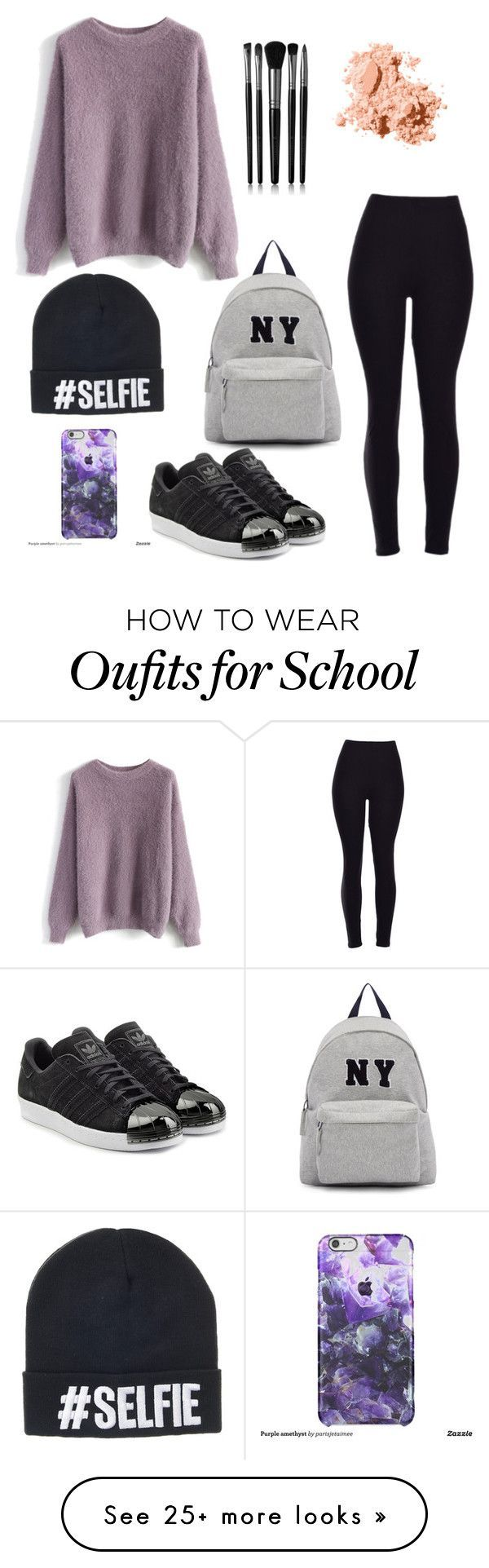 """Monday school outfit"" by jordangirl2313 on Polyvore featuring moda, Joshua's, Chicwish, adidas Originals, Illamasqua, Bobbi Brown Cosmetics, women's clothing, women, female i woman"