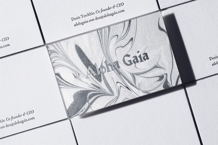 Aloha Gaia by The Bakery. #branding #businesscards